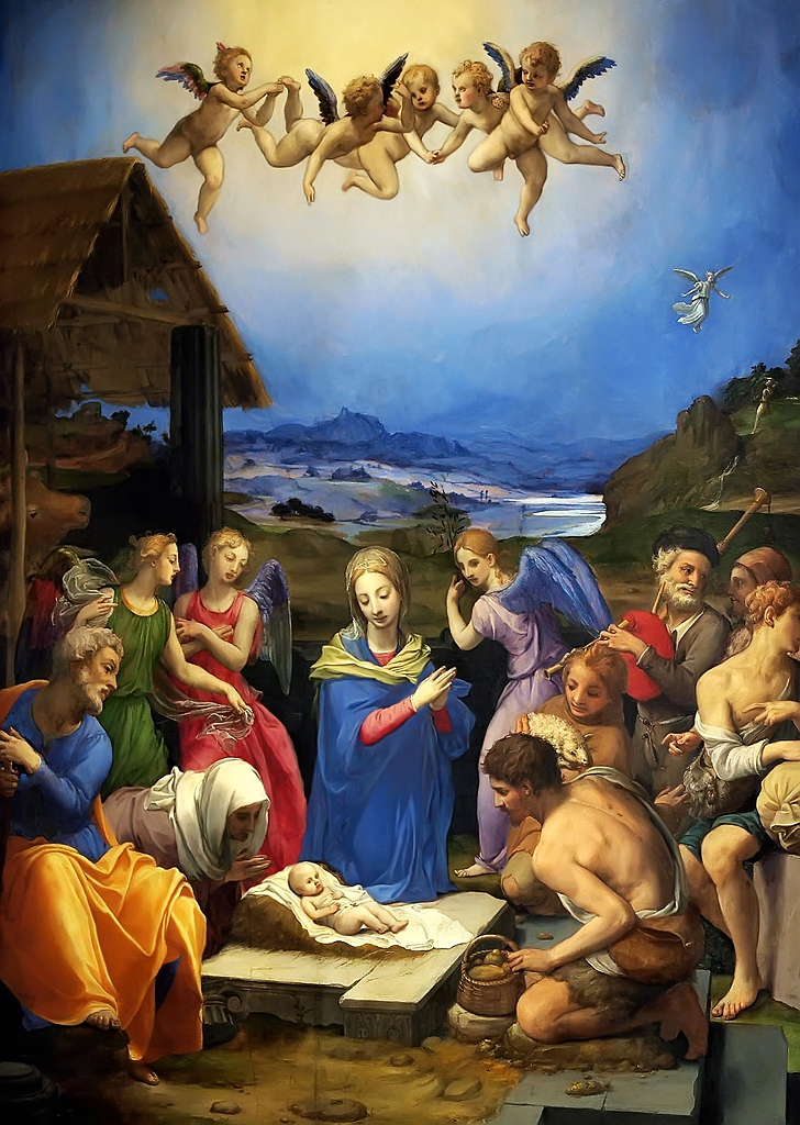 A Virgin Most Pure adorazione Bronzino