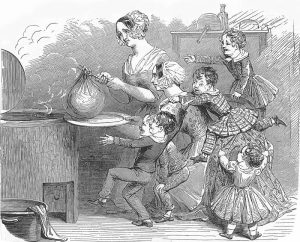 cooking-the-christmas-pudding-1848