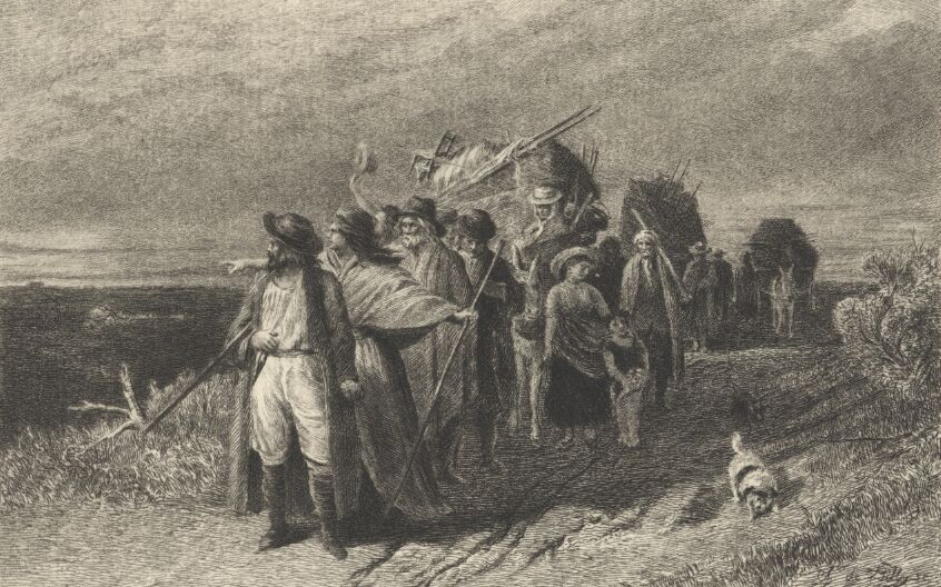 The departure of the Gypsies Clark Stanton, Etched by C. de Billy