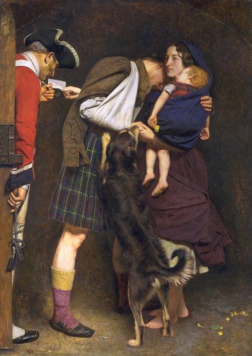The Order of Release 1746 dipinto di Sir John Everett Millais -1852