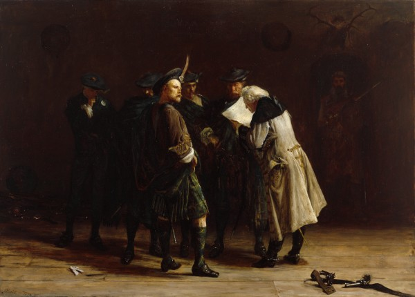 Giacobiti - John Pettie 1874: gruppo di giacobiti scozzesi riuniti per la rivolta del 1745