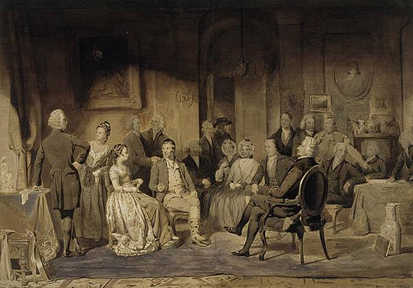 James Edgar - Robert Burns at an evening party of Lord Monboddo's, 1786 (dipinto del 1854)