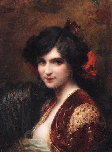 Adrien Henri Tanoux (1865-1923) Spanish Lady