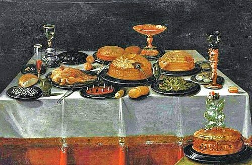 Unknown Flemish Artist Still Life with Pies 17th century