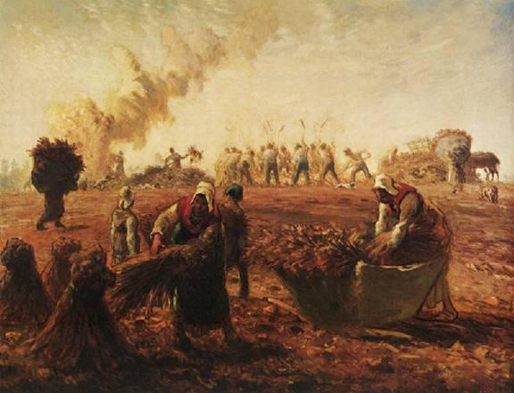 Jean-François Millet - Buckwheat Harvest Summer 1868