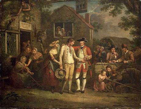 John Collet (1725-1780). The Recruiting Sergeant