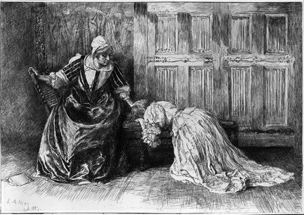 Edwin-Austin-Abbey-Illustration-for-Barbara-Allen-Kneeling-in-Sorrow