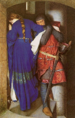 """Hellelil and Hildebrand, the Meeting on the Turret Stairs"" - Frederick William Burton, 1864."