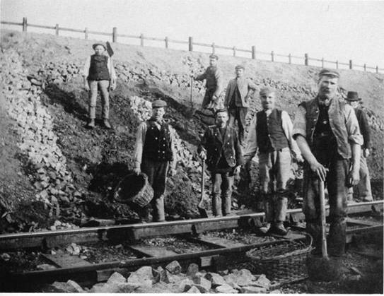 irish workers railway