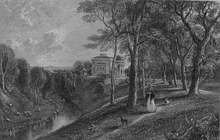 Coilsfield House (Castello di Montgomery) nel 1840