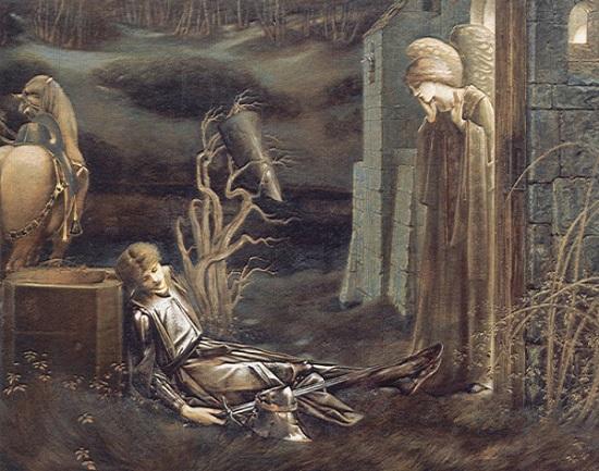 il sogno di Lancillotto presso la cappella del Graal