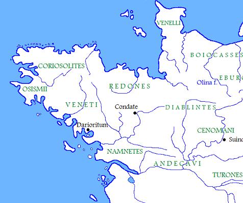 lingua bretone e popolazioni galliche Armorica I secolo