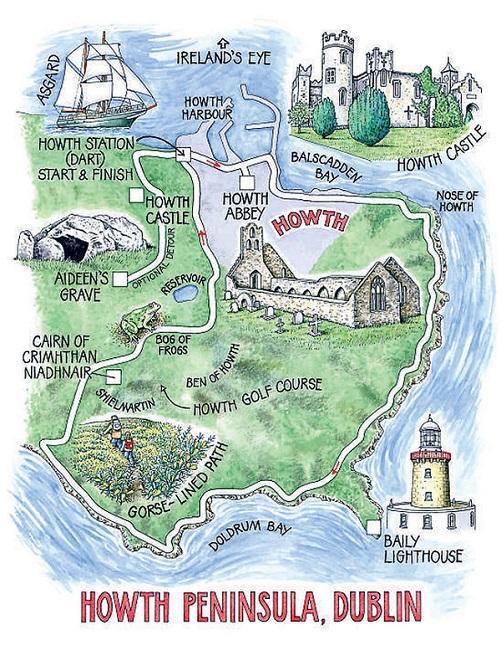 Howth peninsula Dublin