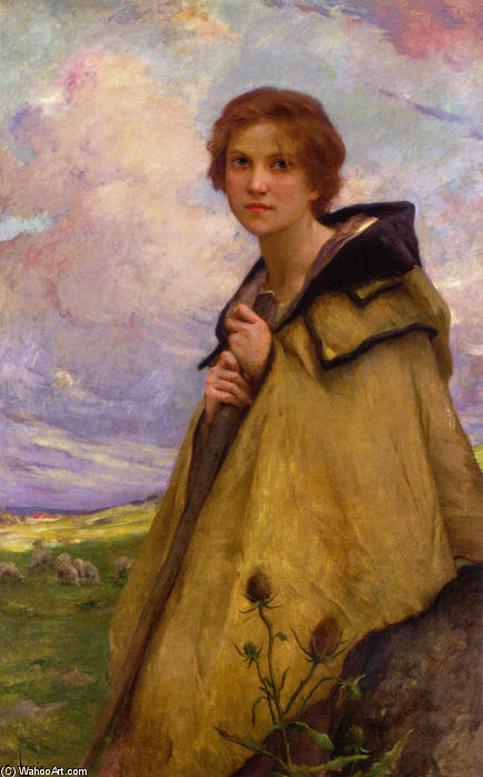 Charles-Amable-Lenoir-The-Shepherdess