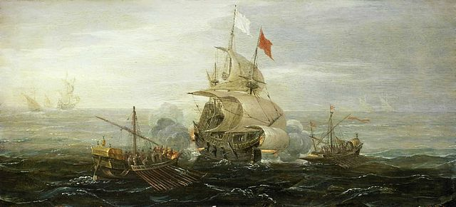 French_ship_under_atack_by_barbary_pirates