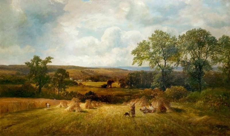 Harvest-Scene-Barrow-Trent-1881