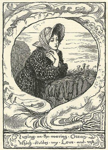 Musing on the roaring ocean, Amelia Bauerle -1895