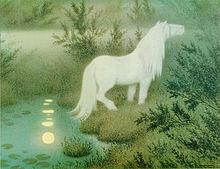 Theodor_Kittelsen_-_Nøkken_som_hvit_hest