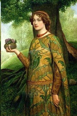 Violets-by-Pre-Raphaelite-painter-James-Dromgole-Linton