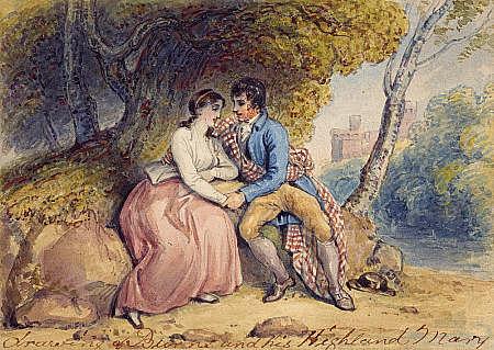 L'albero nei pressi del Castello sotto le cui fronde i due innamorati si diedero l'ultimo bacio