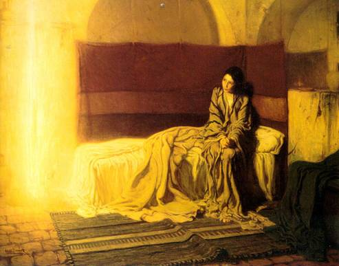 """The Annunciation,"" Henry Ossawa Tanner, 1898"