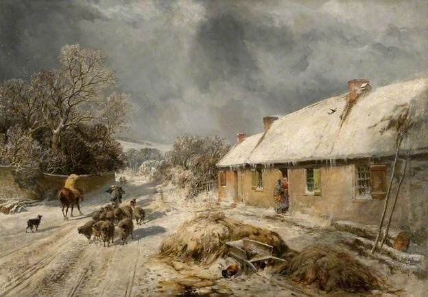Burns' s Cottage - Samuel Bough 1876