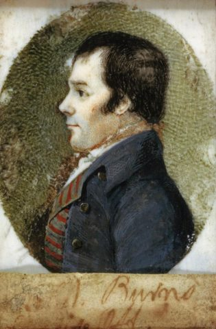 Robert Burns by Alexander Reid miniature