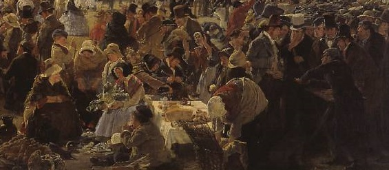 Donnybrook Fair 1859 by Erskine Nicol 1825-1904