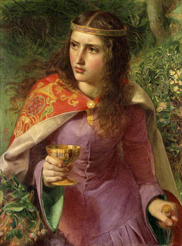 Queen Eleanor - Anthony Frederick Augustus Sandys 1858
