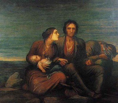 Famiglia irlandese -G.W. Watts 1850