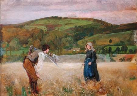John William North. A field of Barley (1866)