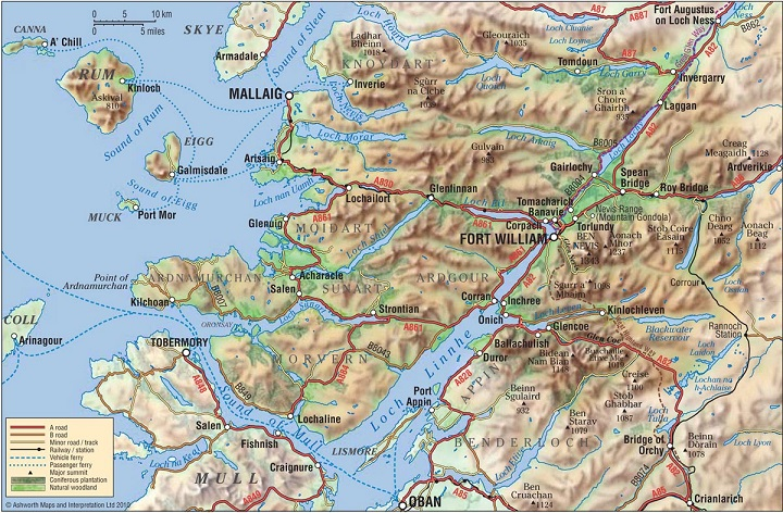 Fort William and Lochaber Map