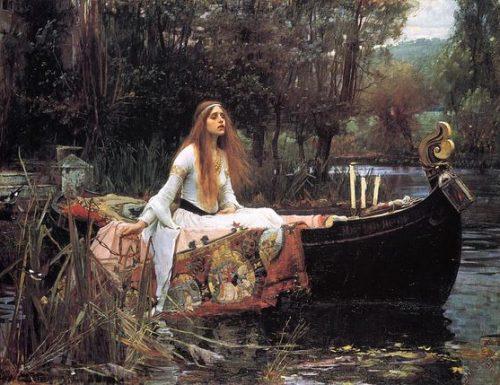 The Lady of Shalott, la fanciulla giglio (lily maiden)