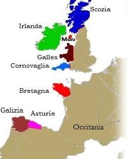 nazioni celtiche Europa