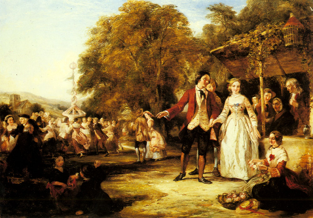 William Powell Frith (1819-1909) A May Day Celebration Oil on canvas 40 x 56 inches (101.6 x 142.3 cm) Private collection