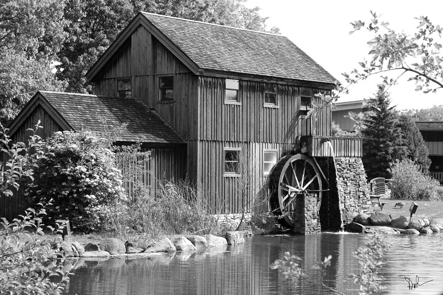 Pam Gleichman Old Mill Black And White""